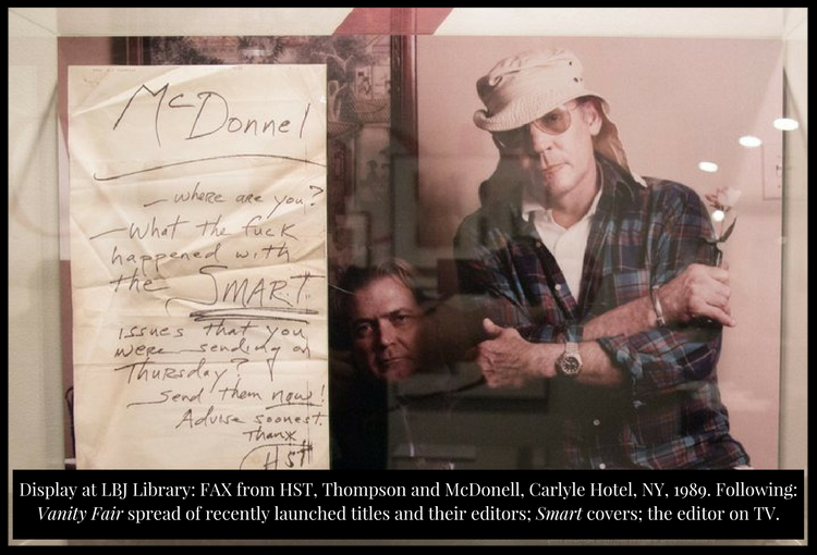 Hunter S. Thompson and Terry McDonell at LBJ Library