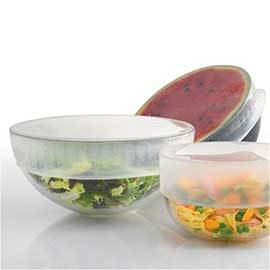 Silicone Stretch Tops for food storage.
