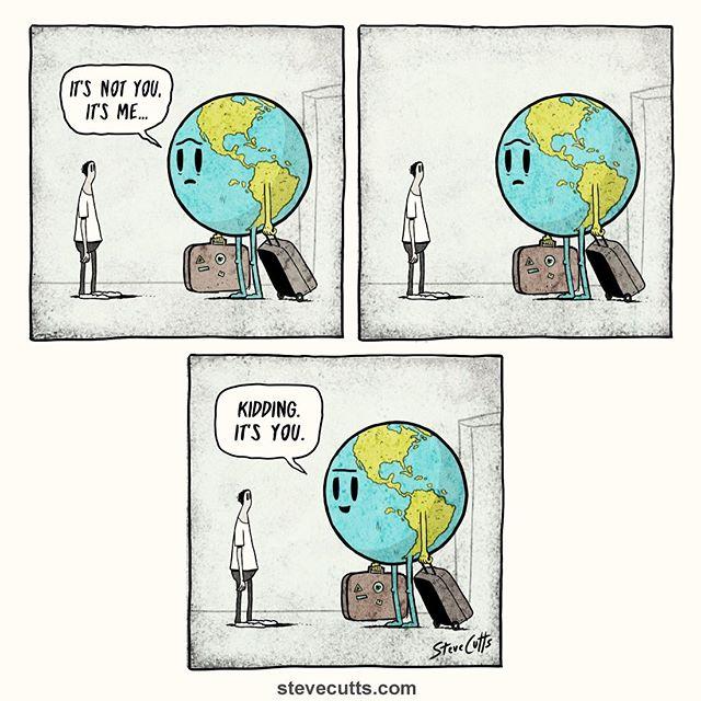It's us. #endplasticpollution #singleuseplasticfree #laywastetowaste #trashsucks #shedeservesbetter