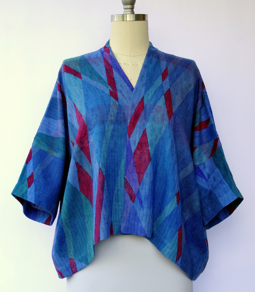 Neal Howard, Art To Wear, Shibori Silk Jacket.JPG