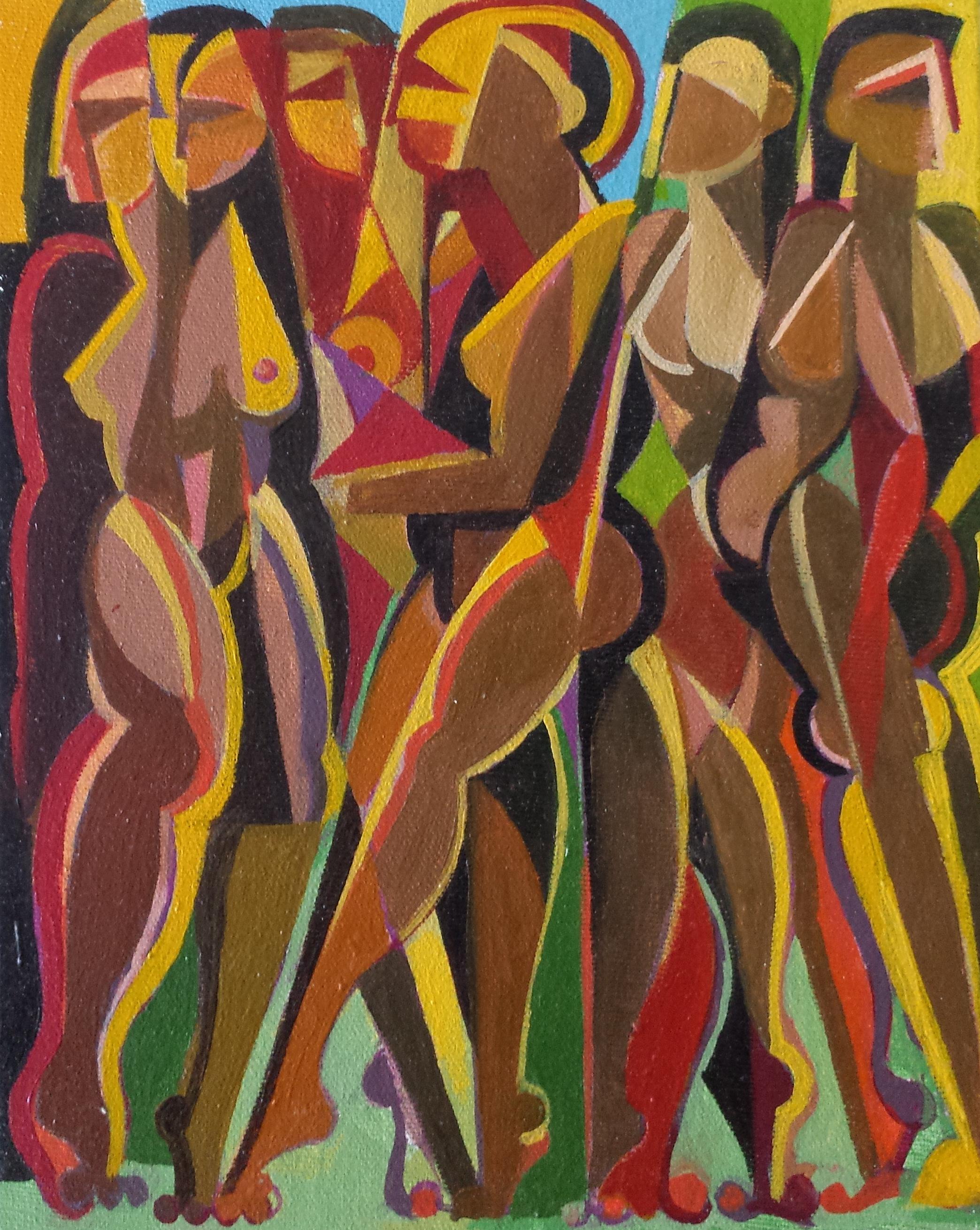 """Sunbathers , 2011, 17 x 19"""""""