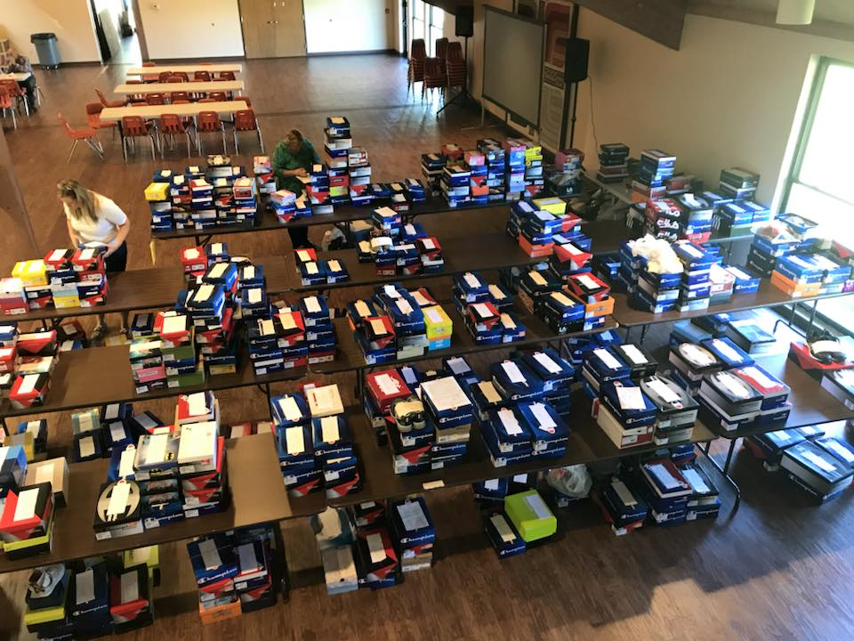 Our annual shoe drive collects over 700 pairs of new shoes for the needy