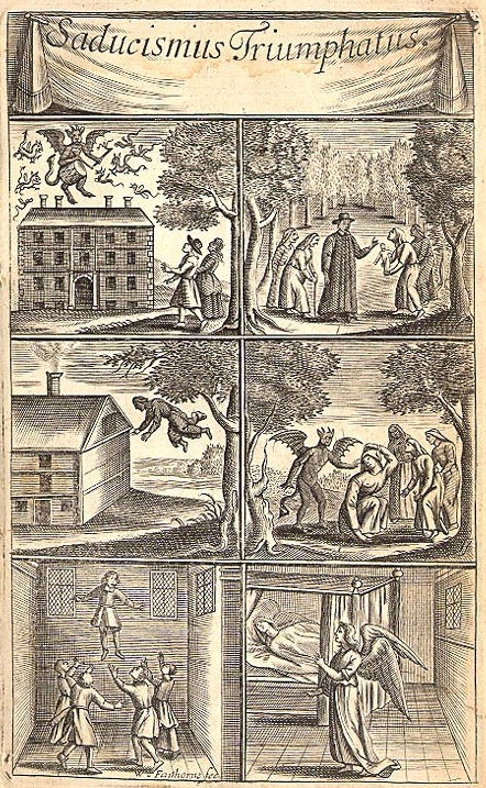 Frontispiece from Joseph Glanvill,  Saducismus Triumphatus: Or, Full and Plain Evidence Concerning Witches and Apparitions  (London, 1682). Image courtesy of the Schoenberg Center for Electronic Text & Image, University of Pennsylvania, Philadelphia.