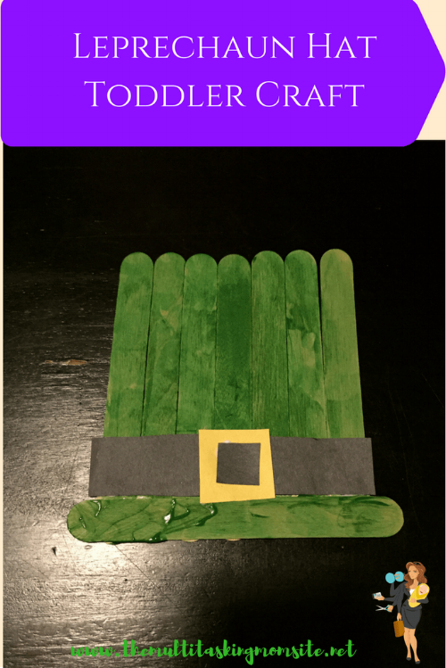 Create this super easy and fun St Patrick's Day craft with your toddler. All you need is popsicle sticks, paper, and paint to make this leprechaun hat.