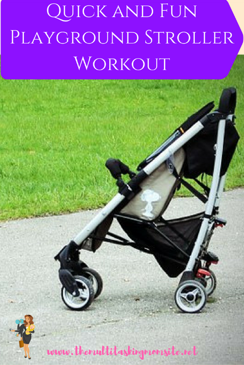 A quick and fun Playground stroller workout perfect for Spring playtime with the kids.