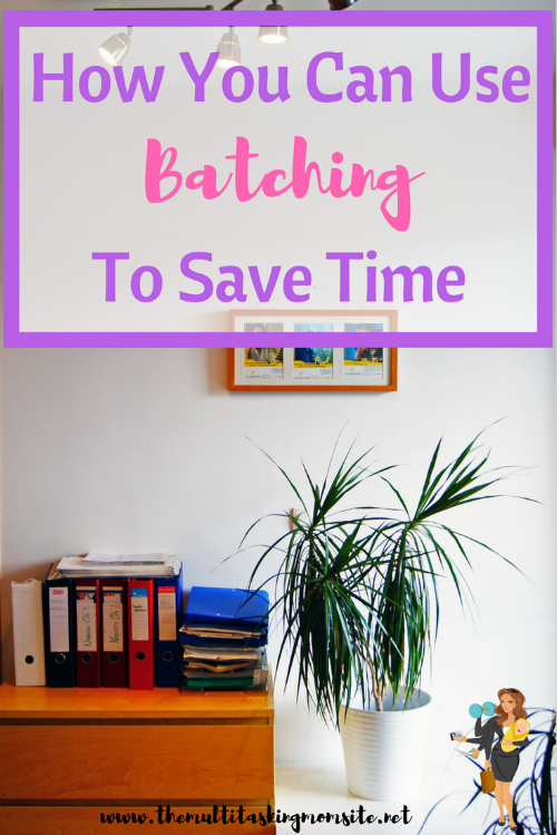 Batching is a tactic that many entrepreneurs and businesses use to get more things done in less time.  Here is an explanation on what batching is and how busy moms can use this tactic to save time and energy.