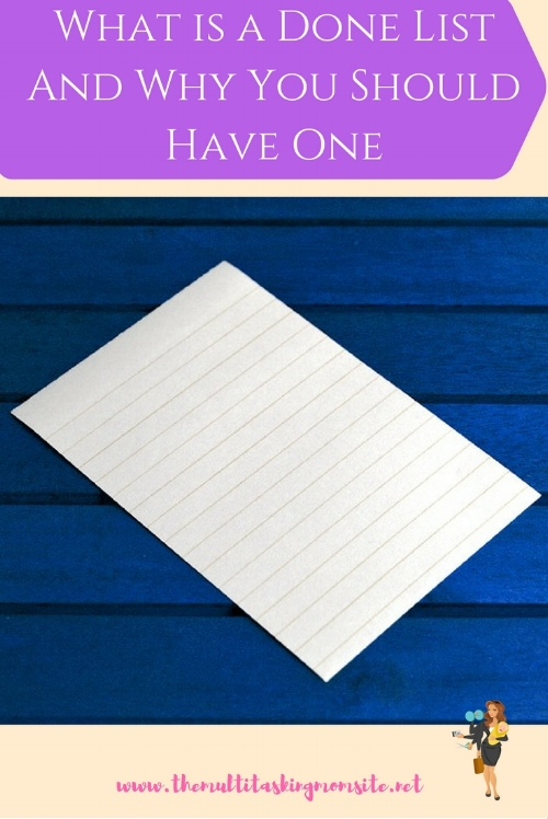 A done list, much like it sounds, is a running list of all the things you have completed. Reviewing your week's worth of done lists allows you to see how you are spending your time and make changes if necessary.