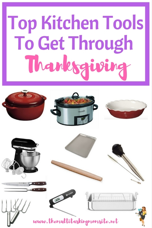 Here is a list and links to the essential kitchen tools that you need to have a fantastic Thanksgiving dinner. Everything is on Amazon prime, so you can totally get it in time for the big day!