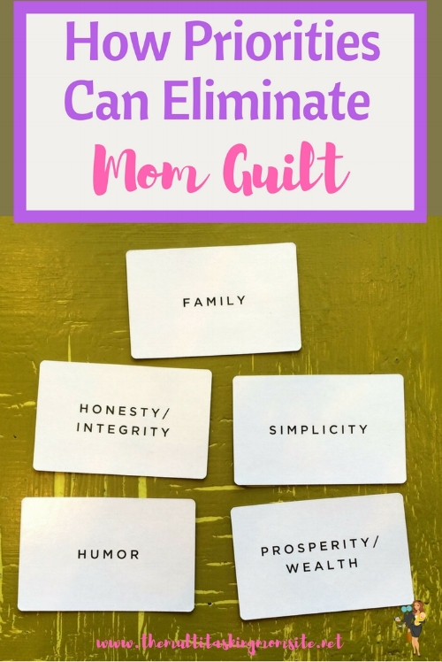 When you know your priorities, it's easy to choose what to do and what not to do. This can allow you to eliminate the mom guilt from the decisions you make.