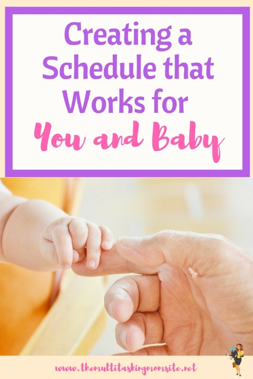 Creating a schedule that works for getting things done with a new baby. Check out these tips for creating your schedule.