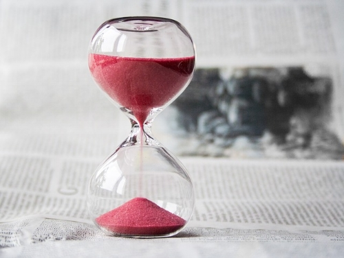 Sand timer for pomodoro technique