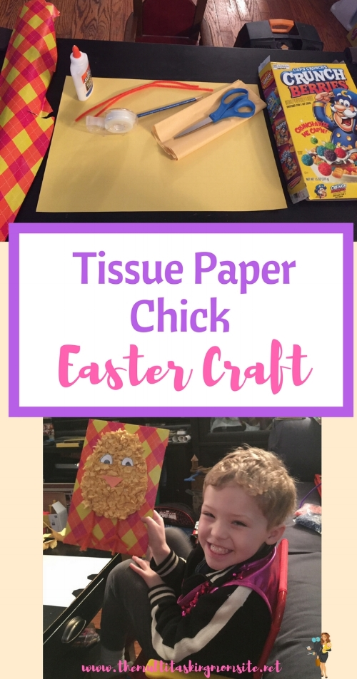 How to create a super cute Easter chick craft with your kids to add to your easter decor.