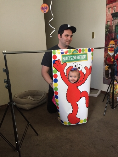 Elmo Photo Op Frame from Broadview Designs on Etsy