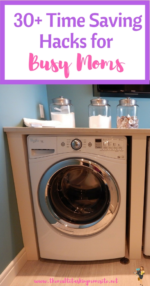 Check out these time saving tips from busy moms all over the internet. These life hacks are sure to save you time and money.
