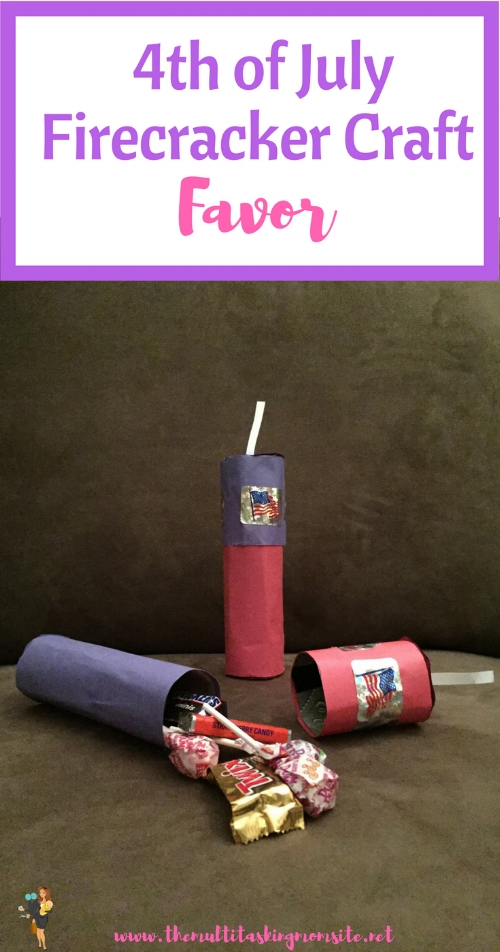 How to make a super cute 4th of July fire cracker that can also be used as a party favor!