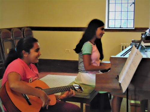 Piano and guitar students
