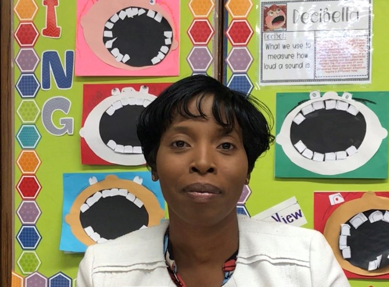 Ms. Nelson in her classroom in East Harlem