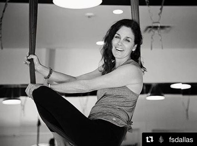#Repost @fsdallas with @get_repost ・・・ Flip your exercise routine on its head with an Antigravity Aerial Yoga class taught by our resident yogi and group exercise coordinator, Meg Plotsky, the only instructor in the south who is certified in 8 levels of @antigravityfitness. 📷 @ashleybiardphotography #MeetTheTeam