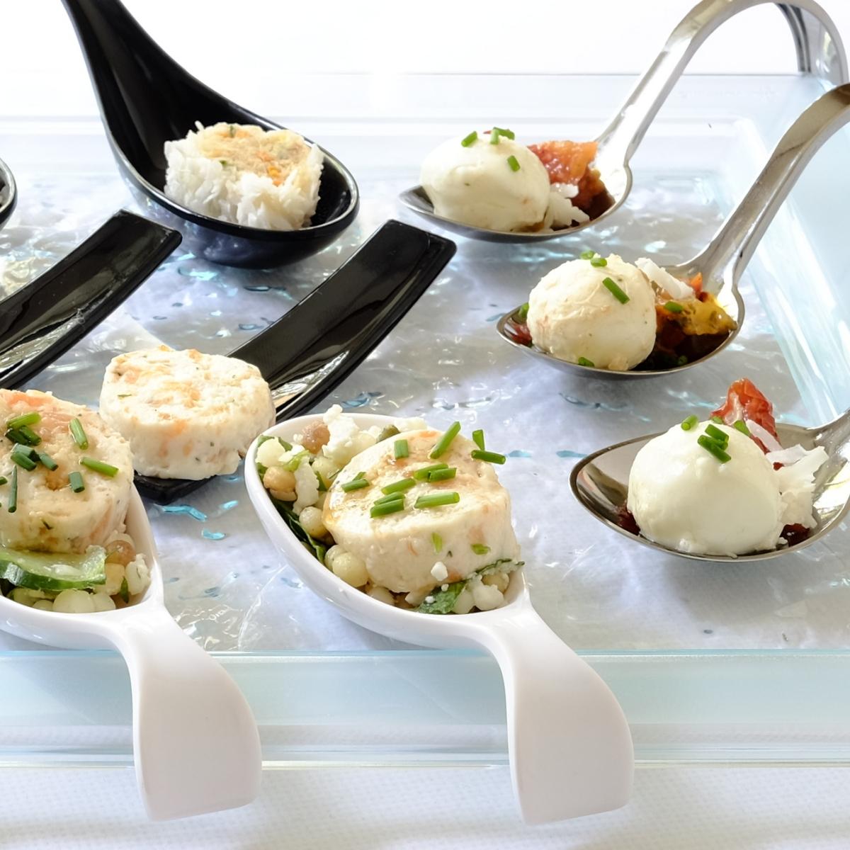 Canape trays & spoons -