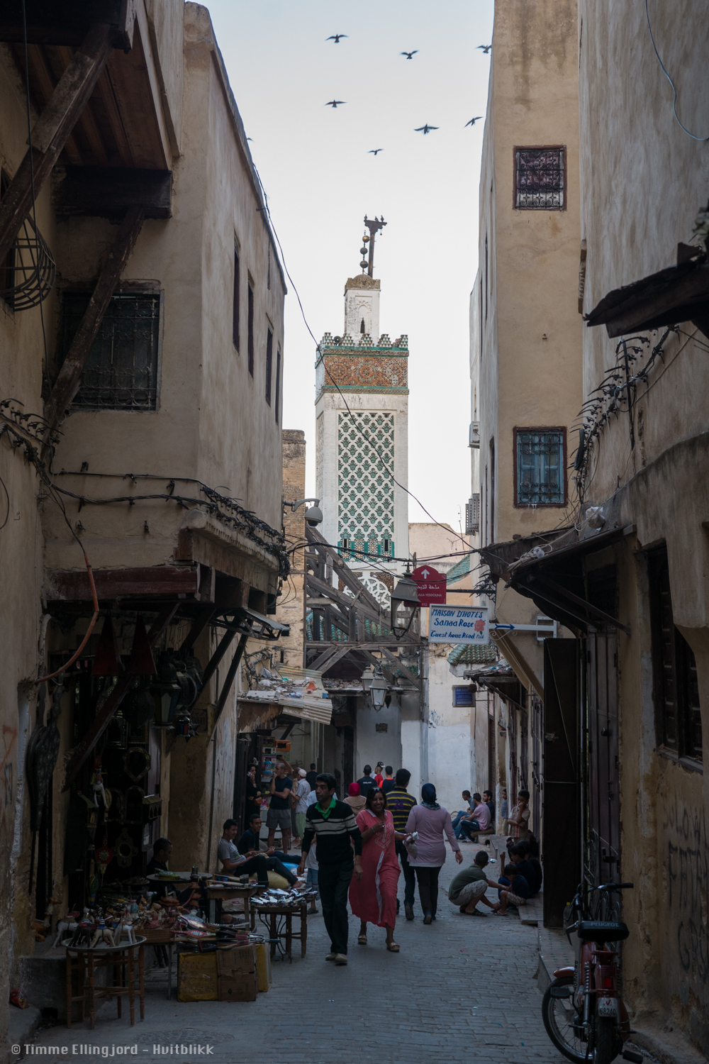 one of the many carless streets in moroccon medinas.