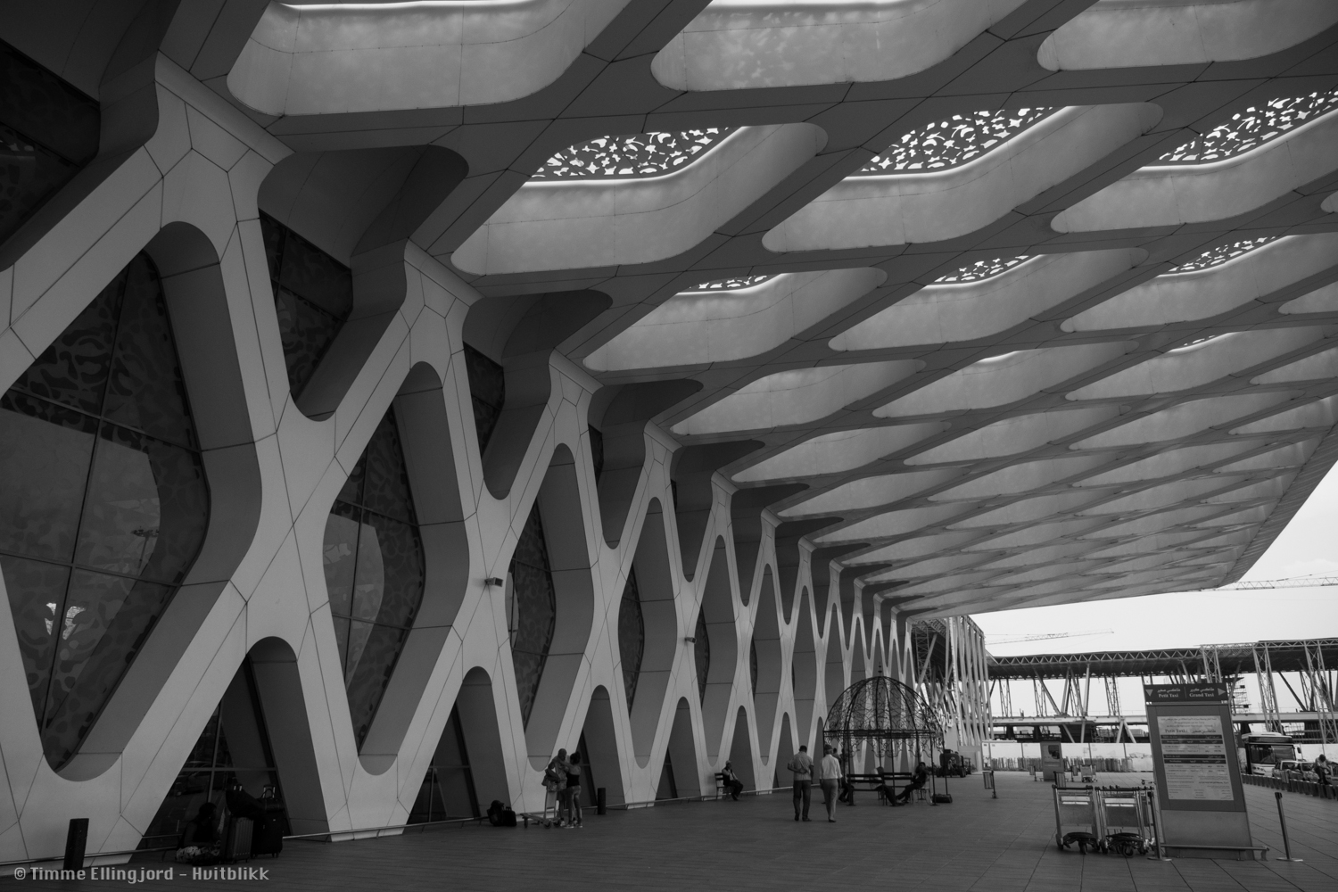 Marrakech airport, pretty cool design - old fashion and new mix