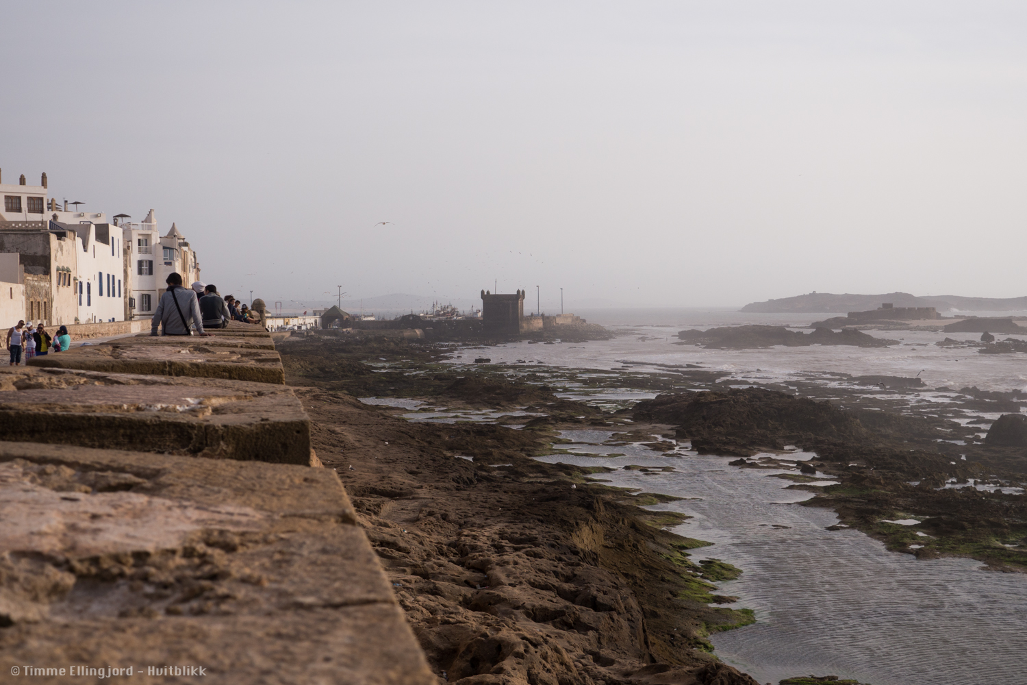 the wall of Essaouira