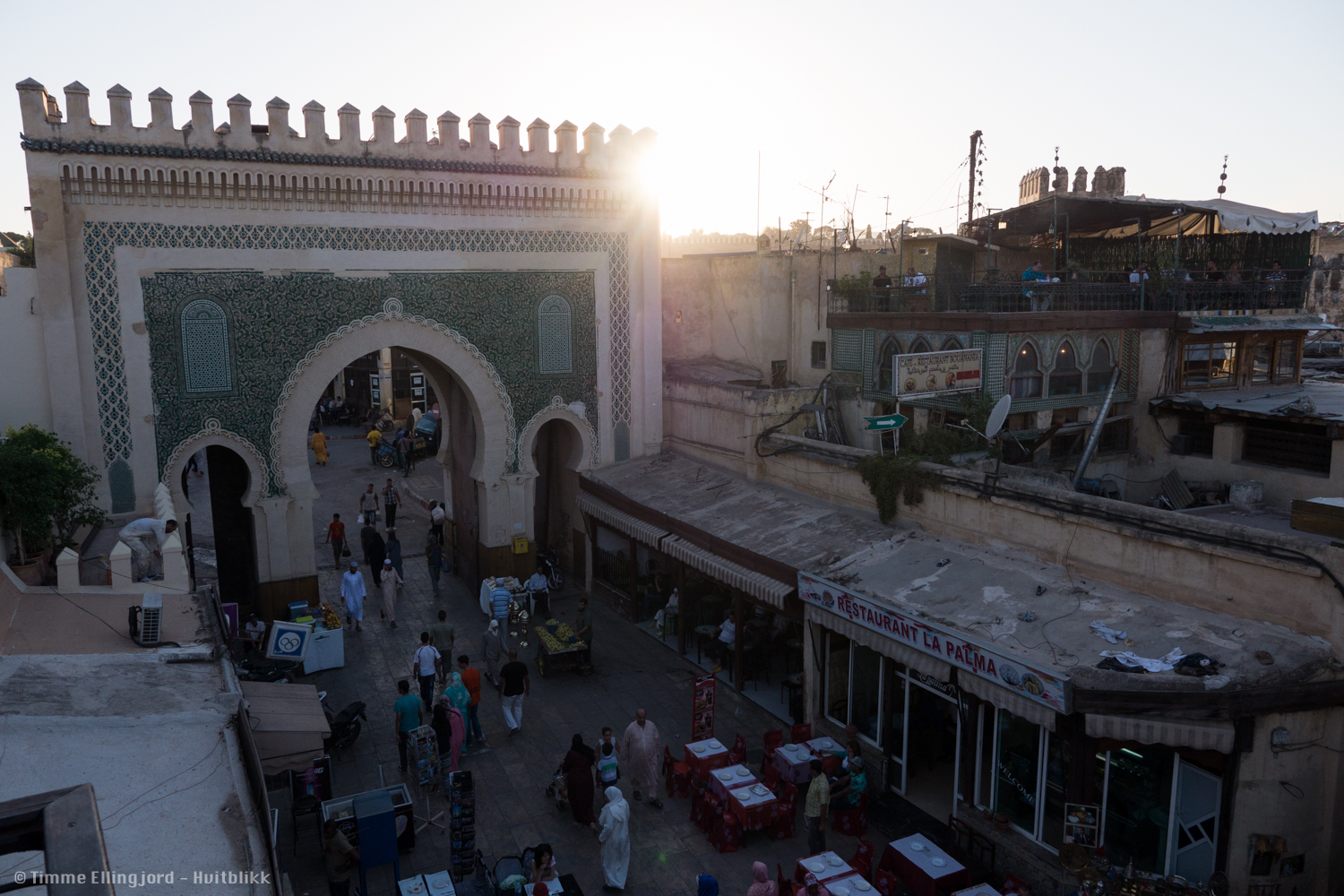 Fes at sunset