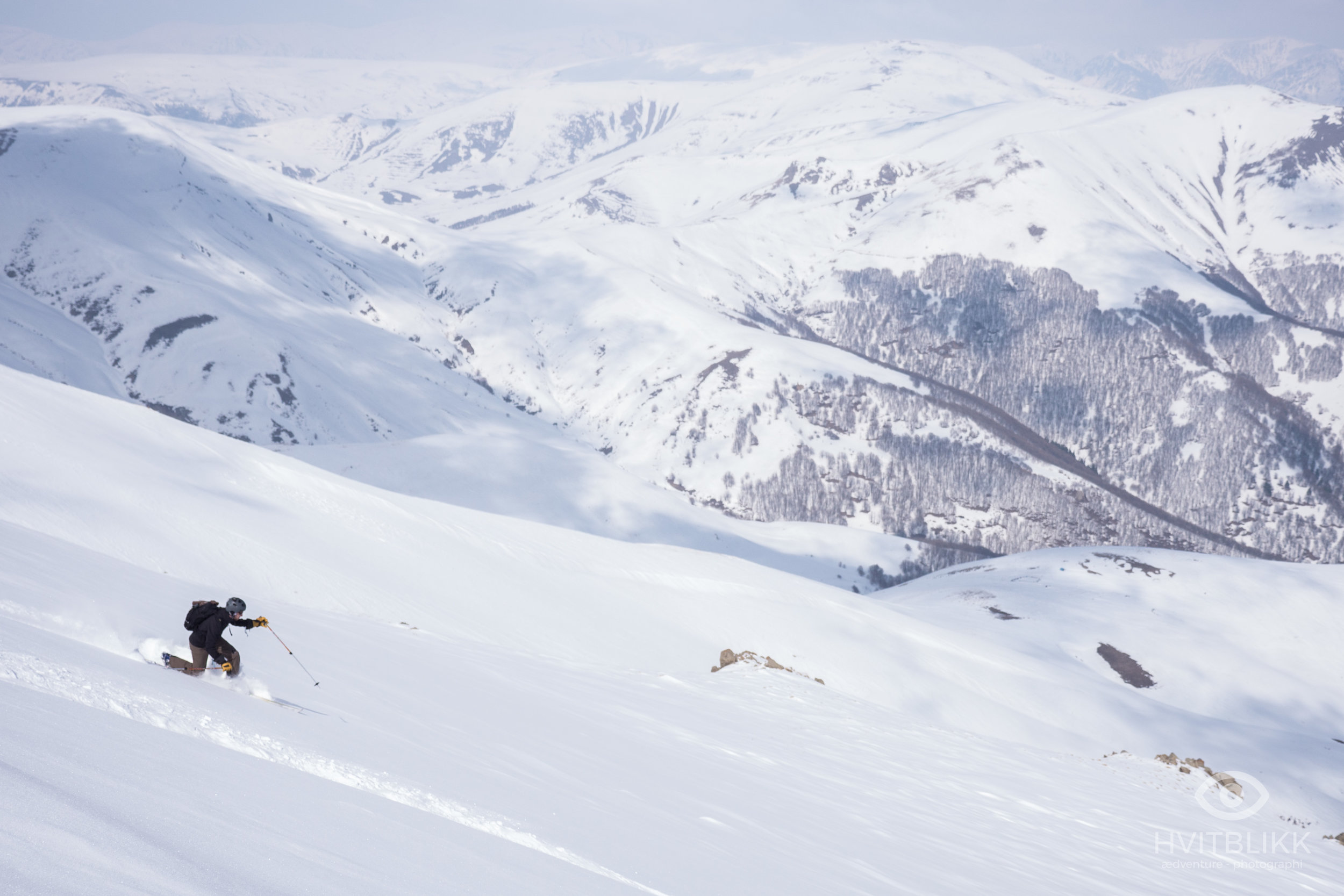 Armenia's rugged landscape does not always provide good forest skiing, but the valley around the village of Aghveran is one of the exceptions.