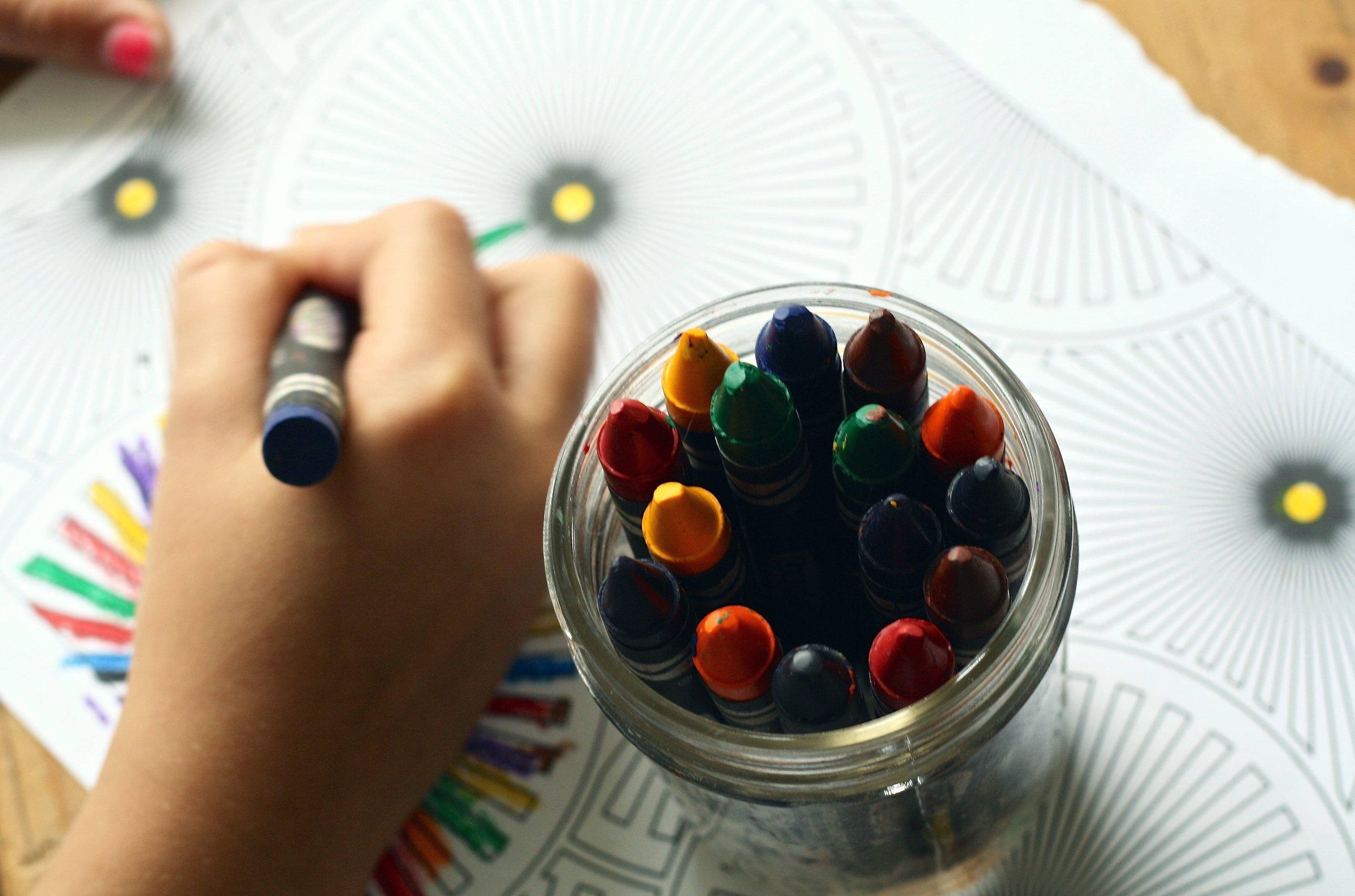 crayon little hands coloring