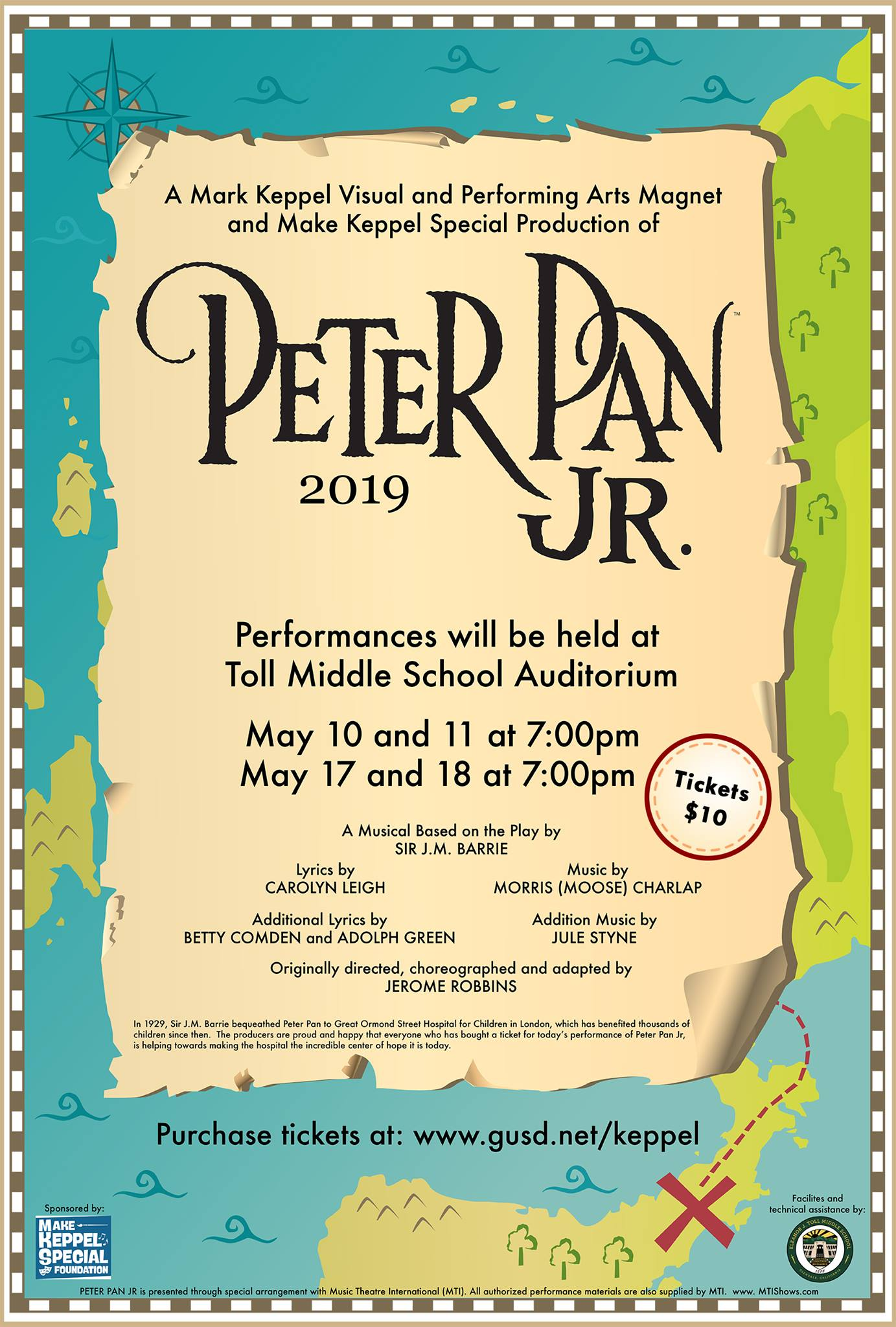 TICKETS TO PETER PAN JR  NOW ON SALE — make keppel special foundation