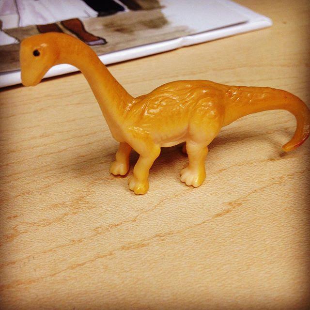 "He shall be named ""Dopey"" #landofthelost  #buddy #dinosaur #brontosaurus"