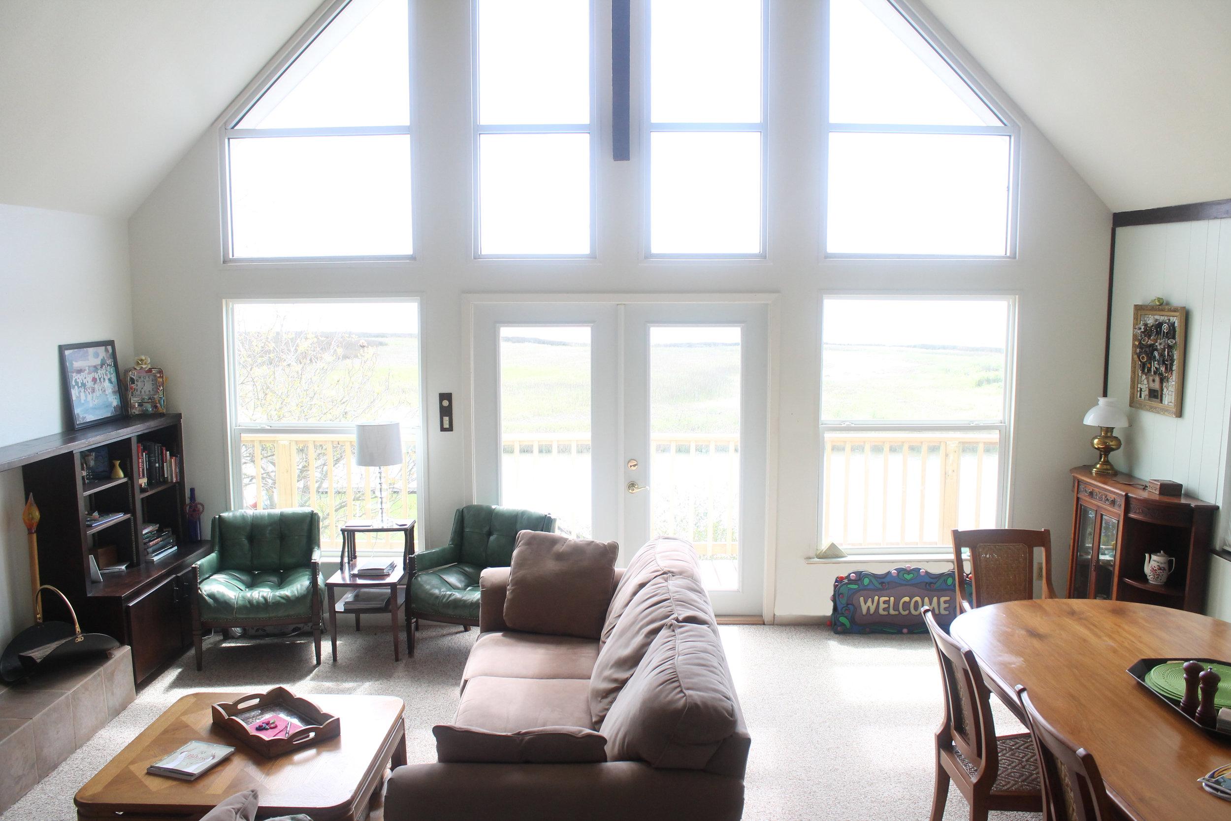 the light filled living room