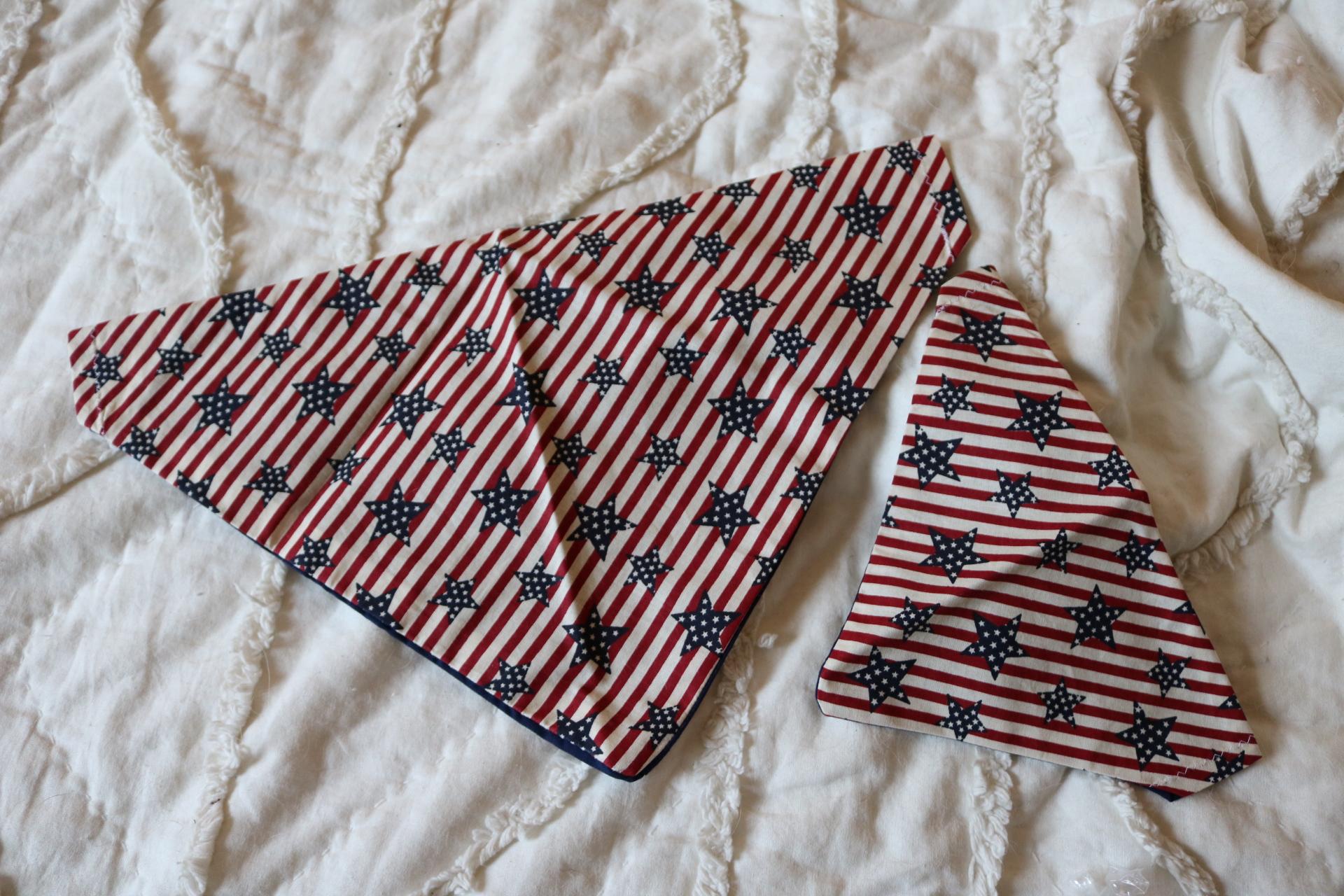 dog bandana, patriotic dog bandana, military dog bandana