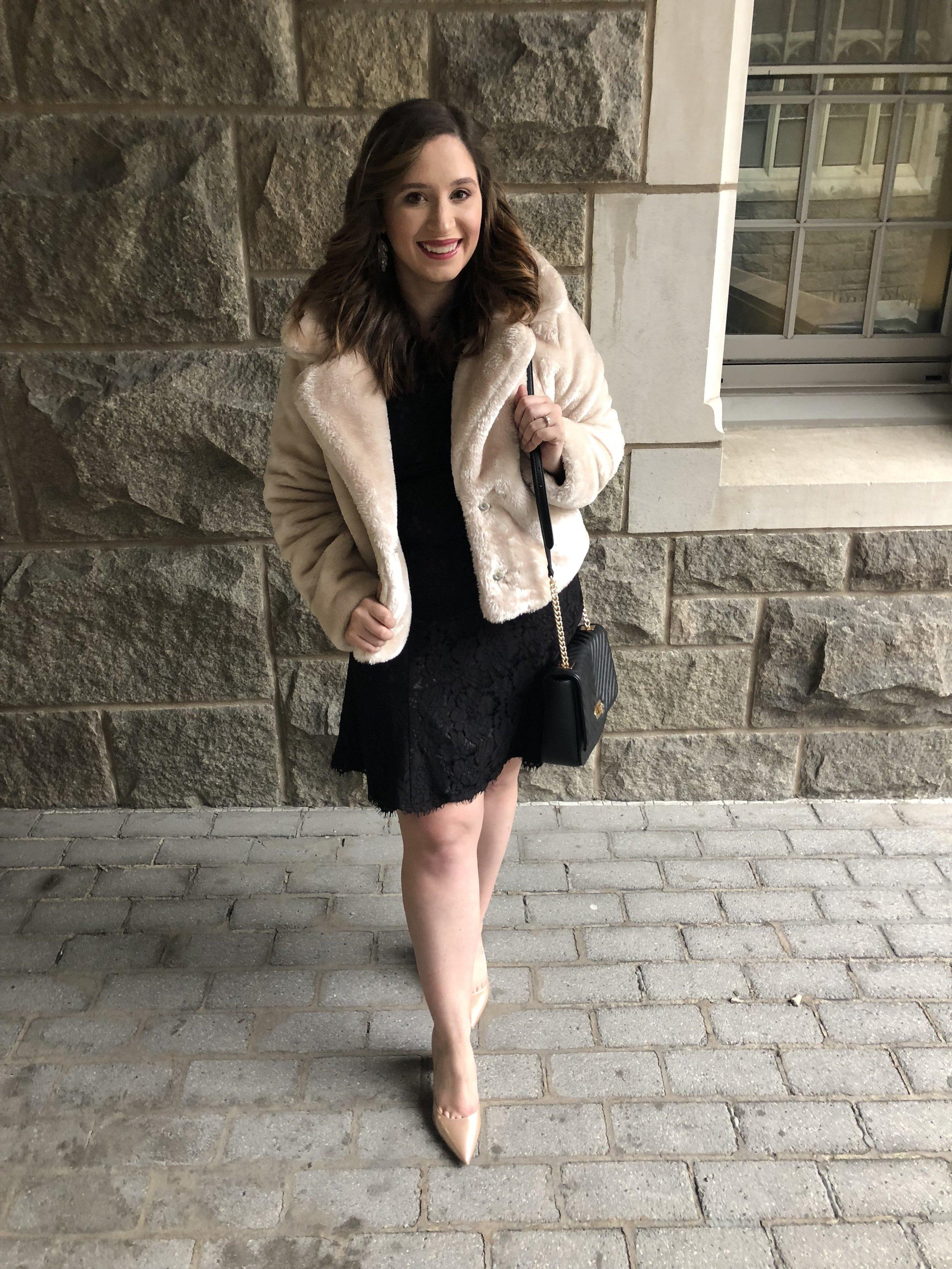 USMA 2018 100th Night Recap Eliza J Dress Outfit Perfect Little Black Dress Outfit
