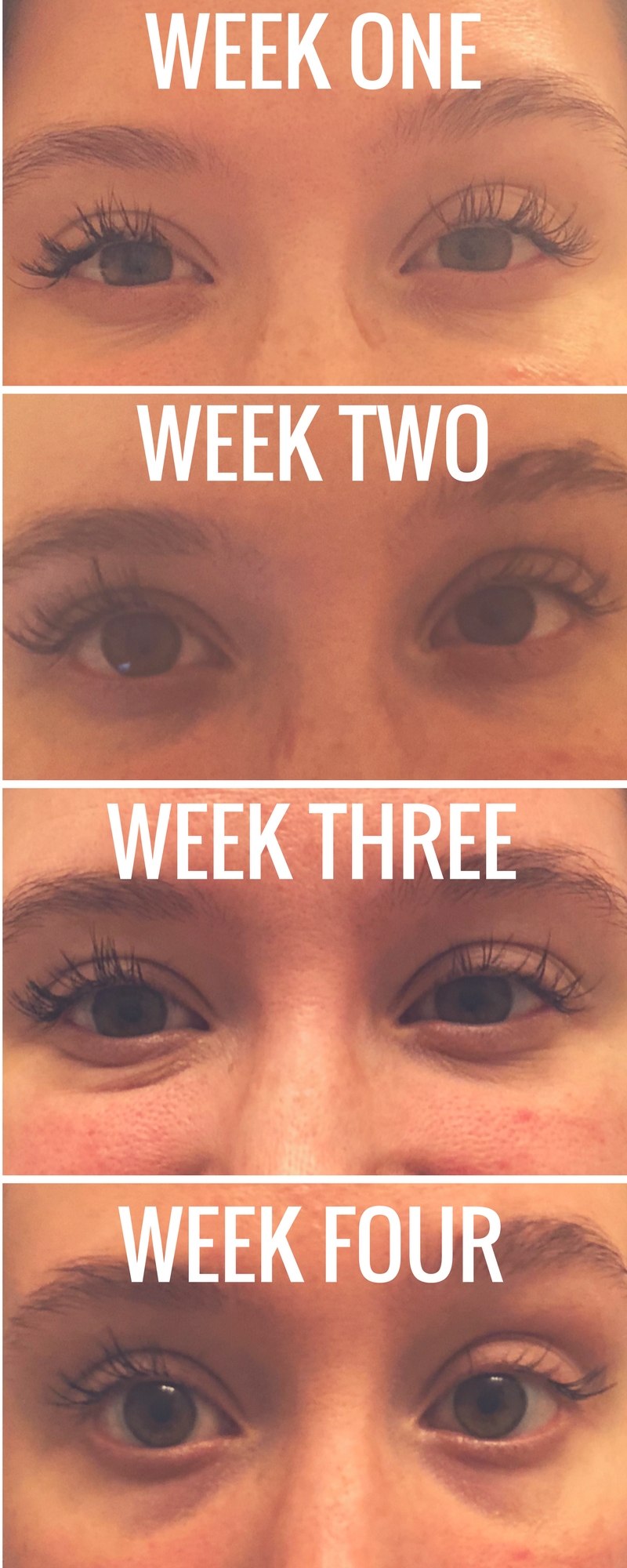 LASH EXTENSIONS WEEK BY WEEK