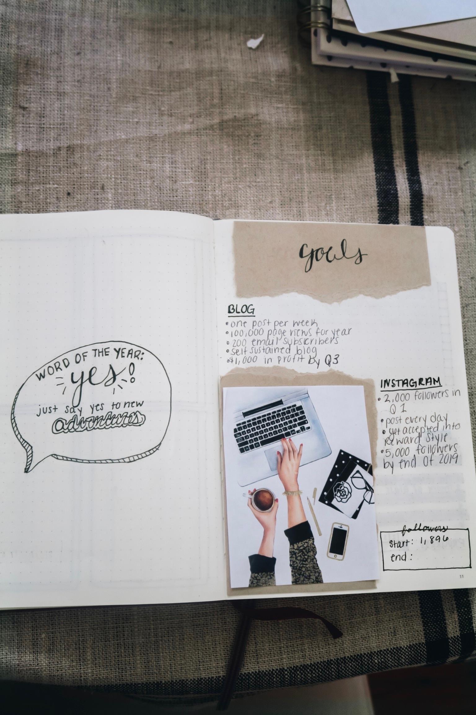 2019 Bullet Journal Setup | Goals