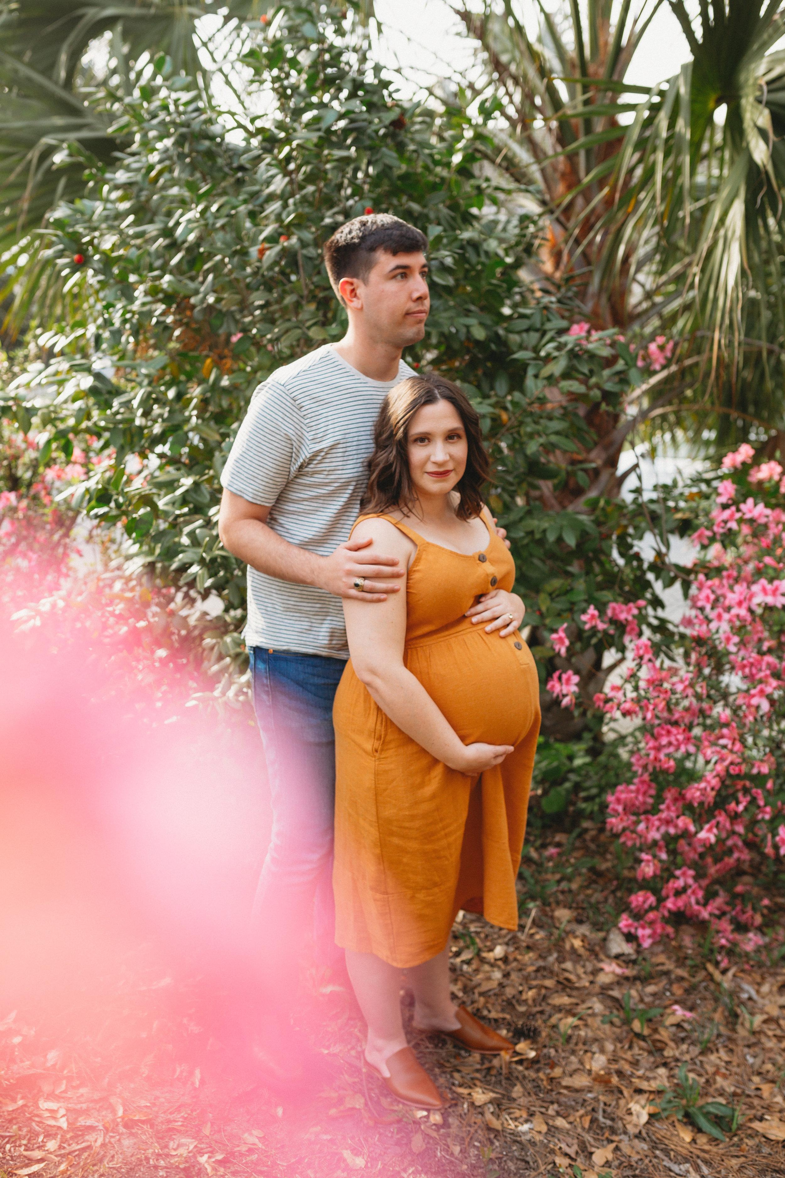 Secret Garden Maternity Photoshoot in Columbus, Georgia