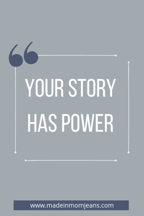 """""""Your Story Has Power."""" - Coffee Talk on Made in Mom Jeans by Darrian Chamblee"""