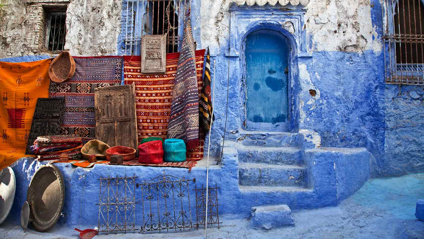 Art & color in Morocco.