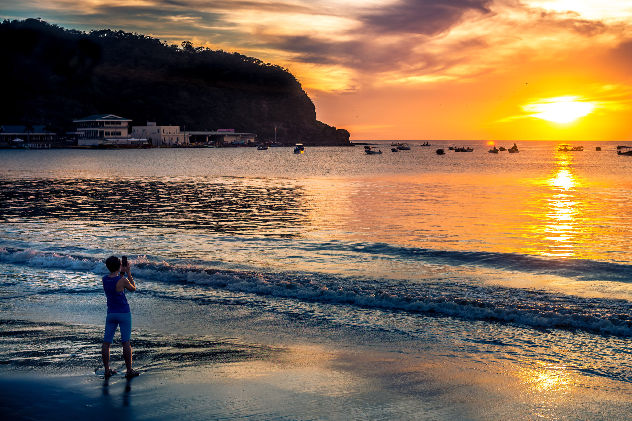 Sunset in San Juan del Sur. Photo credit: Jim Hill