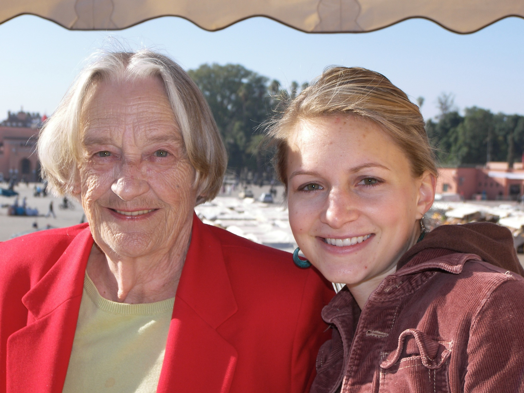 Ashley with her grandmother in Morocco, 2009. Grandmas are moms too!