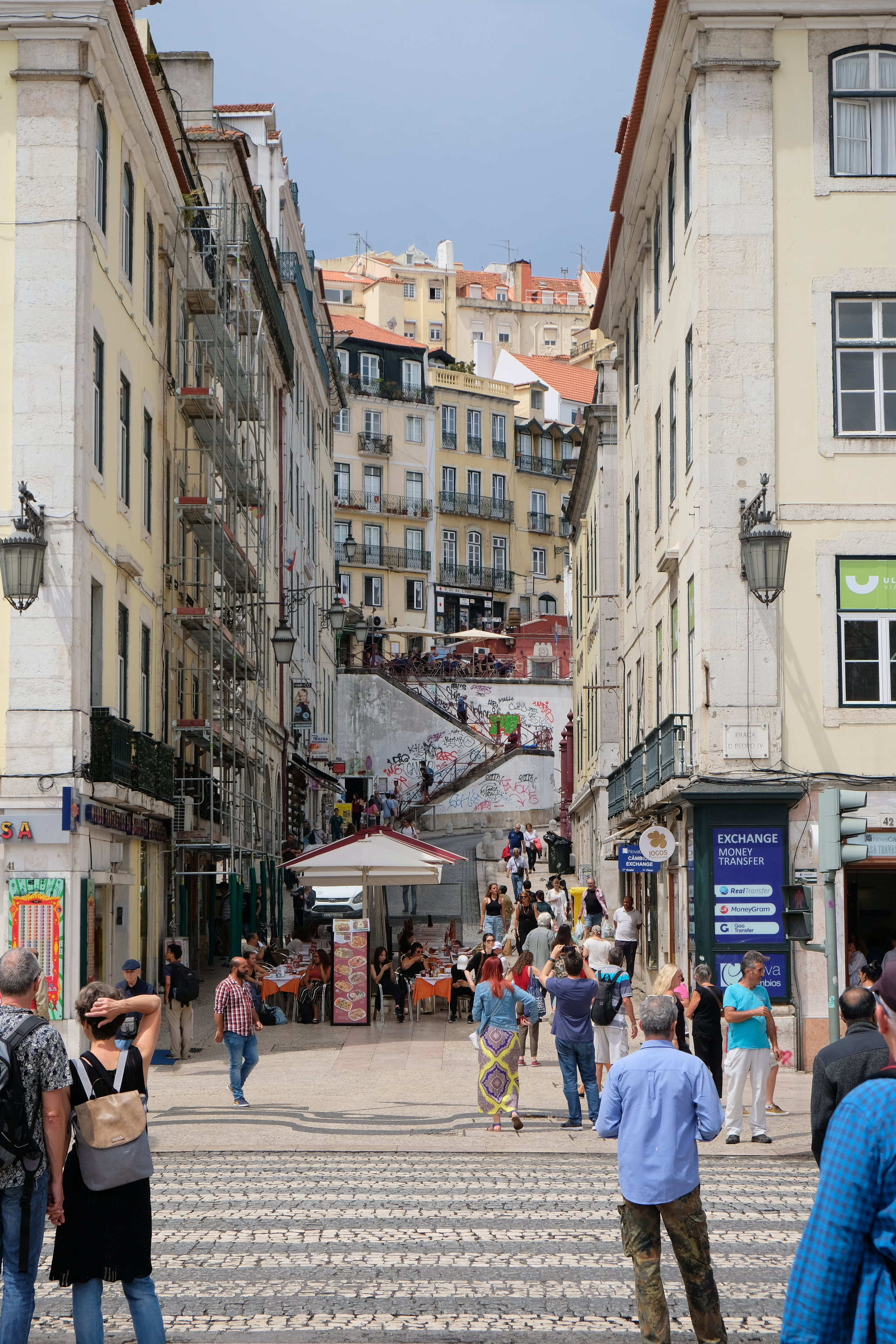 Viewing one of the little side streets off Rossio Square. Photo credit: Belinda Birchall