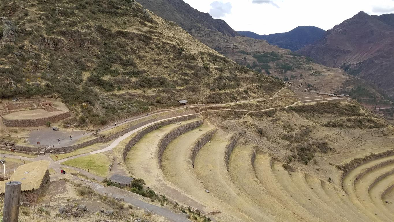 Terraces at Pisaq in the Sacred Valley