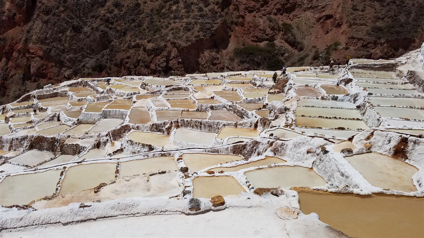 Salineras, the Incan salt flats in the Sacred Valley