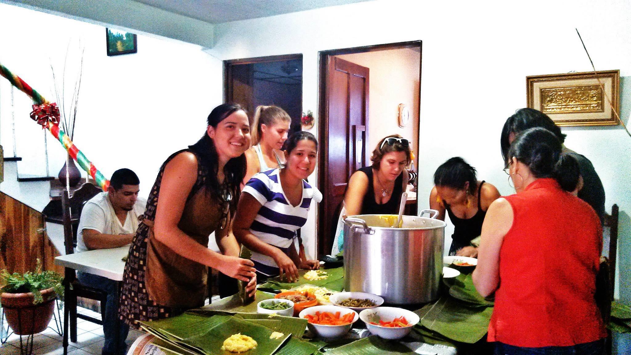 Making tamales in Costa Rica. Photo credit: Melanie Faith
