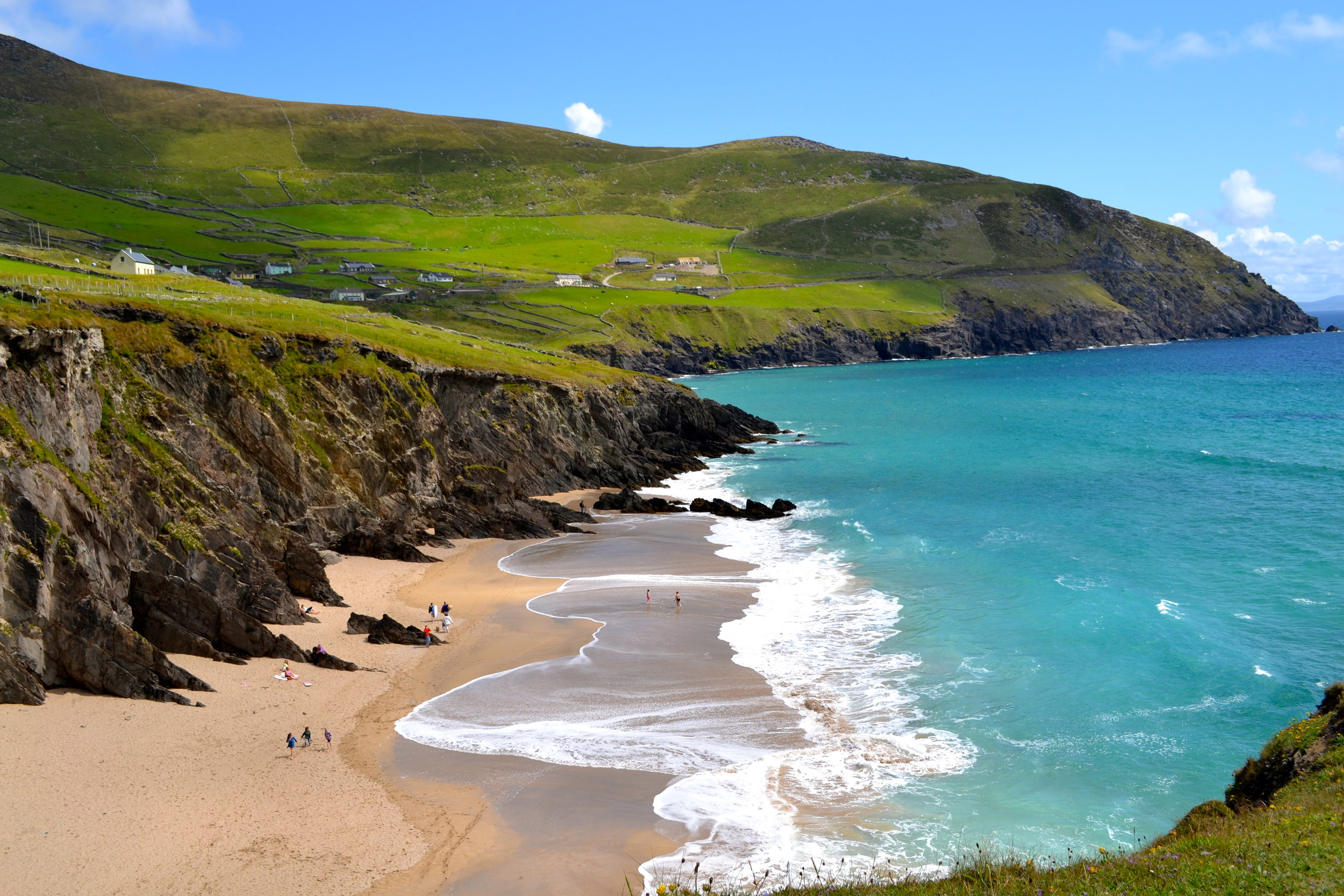 On a sunny day in Ireland, the beaches can be absolutely spectacular! Don't forget your swimsuit.