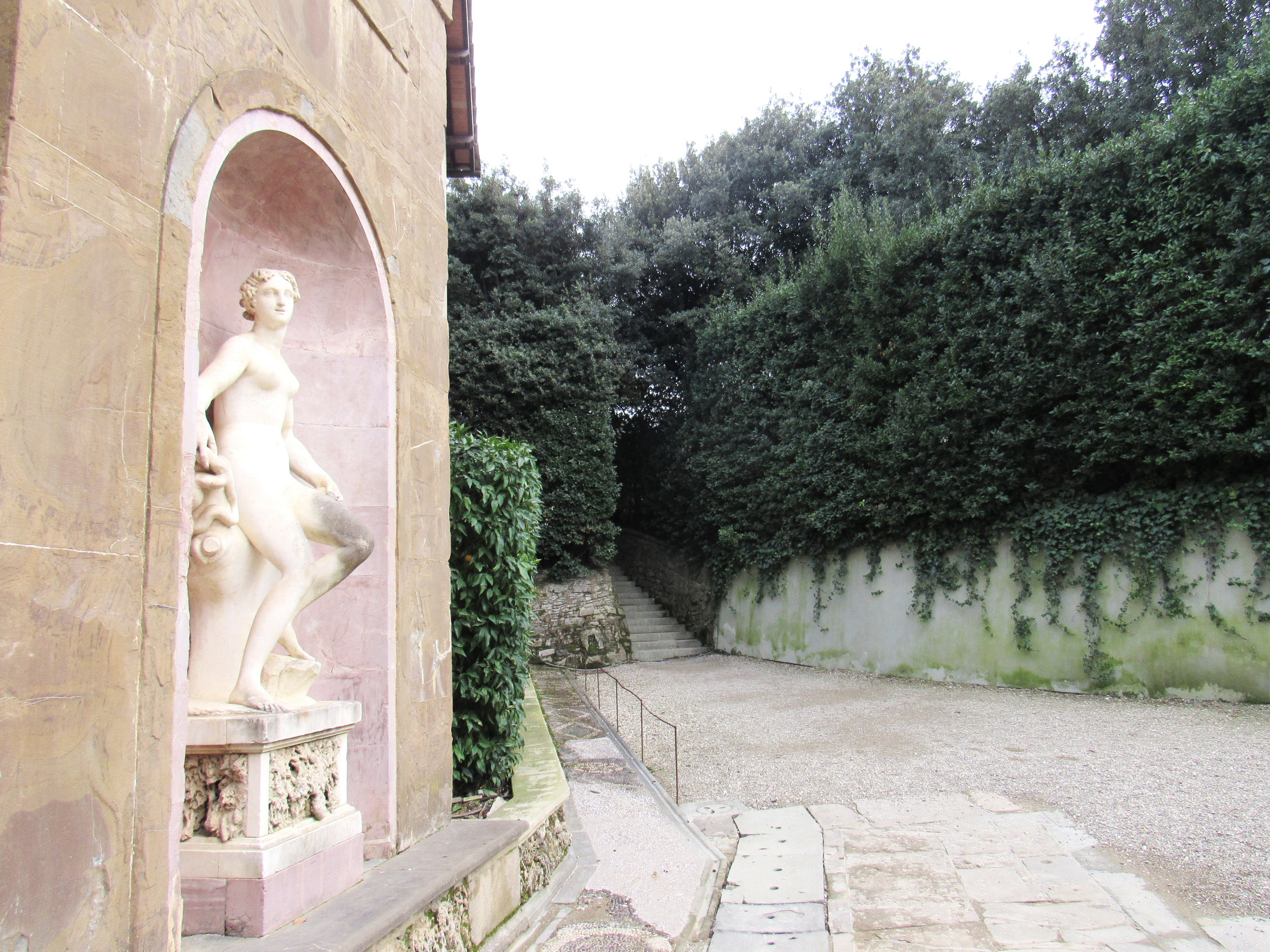 Located behind Palazzo Pitti (which belonged to Florence's leading family, the Medici) are the Boboli Gardens. They are an exquisite example of Italian style gardens, and are home to magnificent grottos, fountains, and Renaissance statues. Photo credit: Maggie Johnson