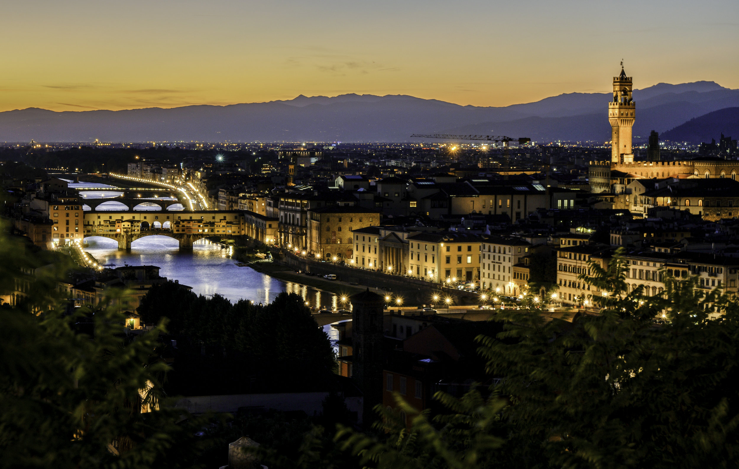 A short walk from the historical center, Piazzale Michelangelo gives a commanding panoramic view of Florence, including the Duomo, Ponte Vecchio, Forte Belvedere, Fiesole, and more. The best time to come is sunset, but arrive early its popular! Photo credit: Freethedust