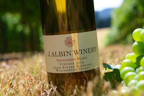 This 2014 J. Albin Winery Sauvignon Blanc is made with 100% Jesse Estate fruit from our Blooming Vineyard.