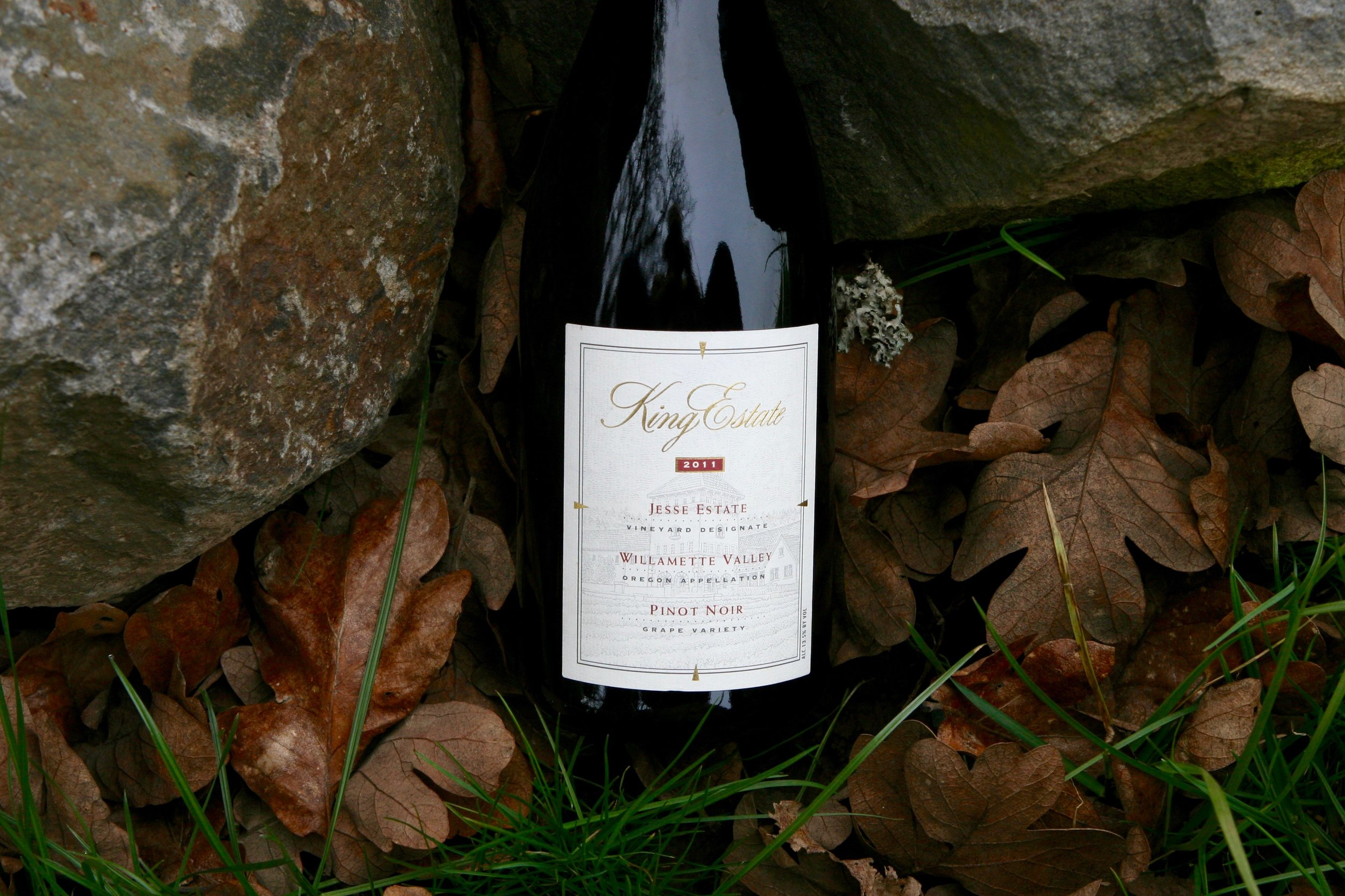 The King Estate 2011 vineyard designate featured grapes from our Nursery Road and Johnson  School sites in this classic Oregon style Pinot Noir. This wine received an 89 from wine enthusiast.